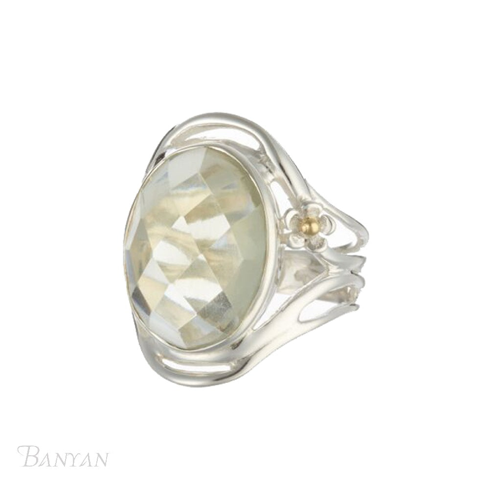 Green Amethyst Ring - O