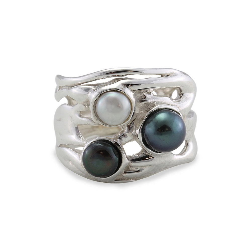 Trio of Pearls Ring - R