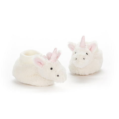 Bashful Unicorn Booties, soft toys for kids