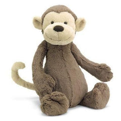 Jellycat Medium Bashful Monkey, Baby boy