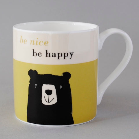 Bear Bone China Mug in Olive