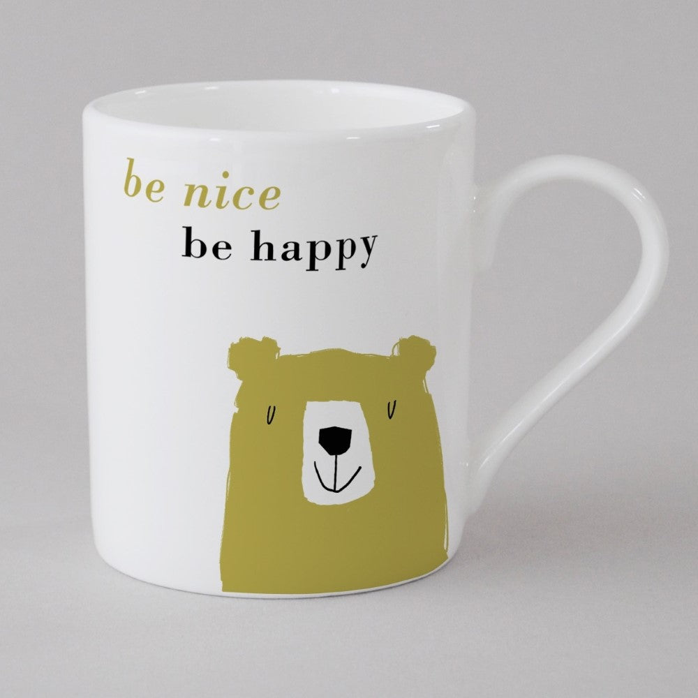 Bear Small Mug in Turquoise