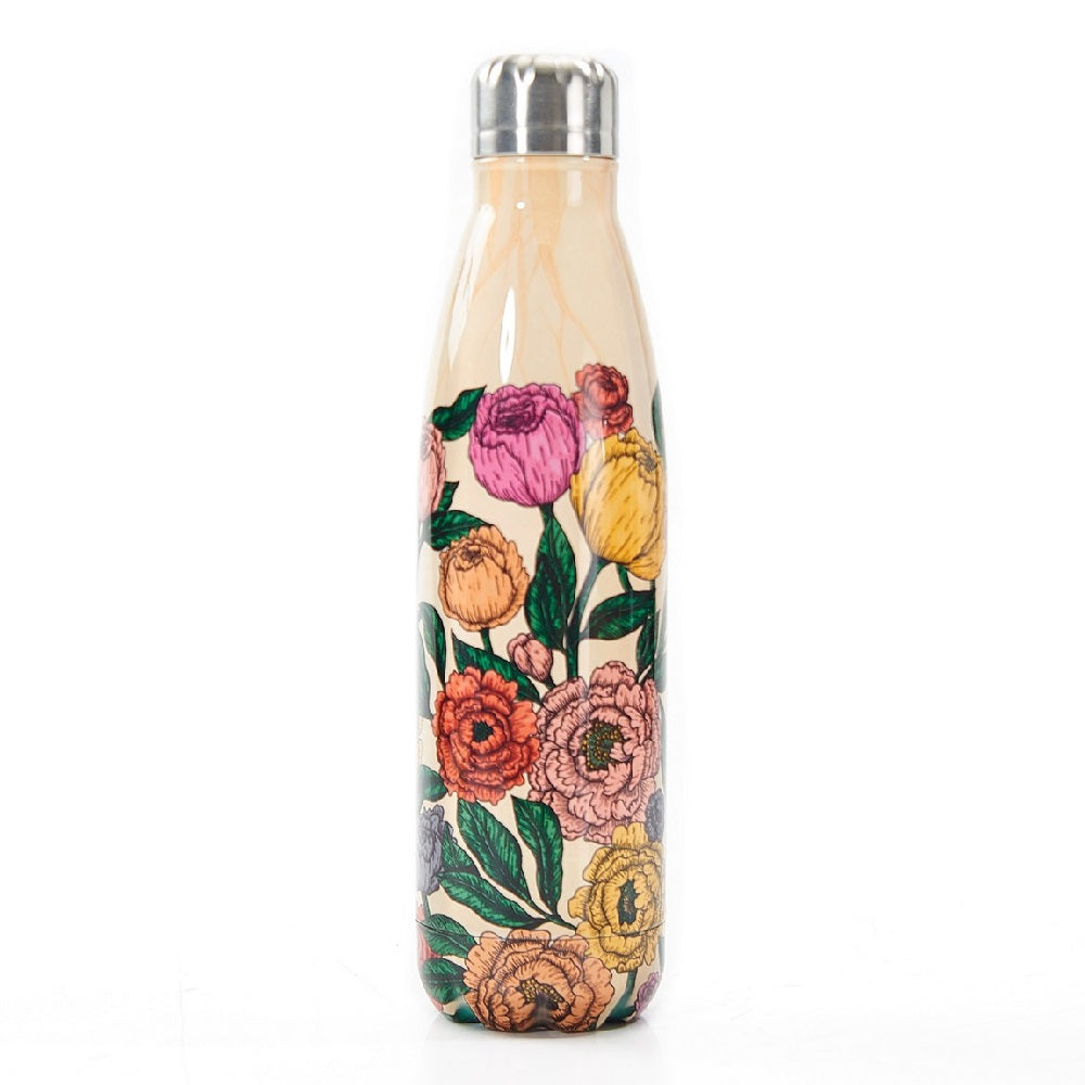 Beige Peonies Thermal Bottle