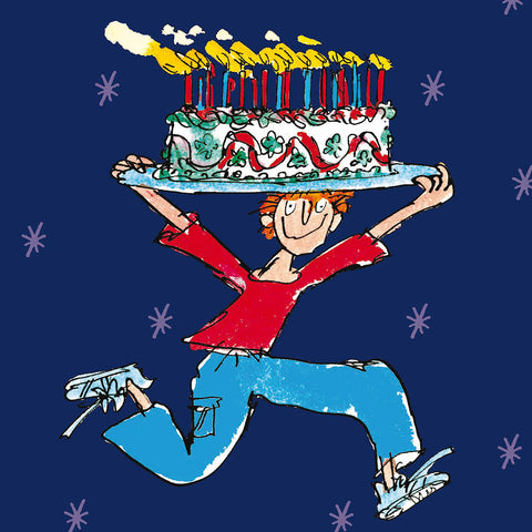 Quentin Blake Happy Birthday Cake Man