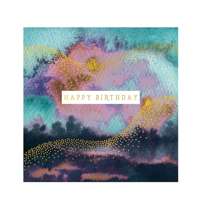 Happy Birthday Watercolour