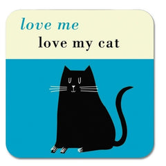 Black Cat Coaster in Turquoise
