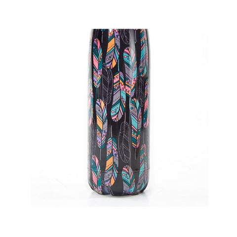 Black Feather Thermal Bottle