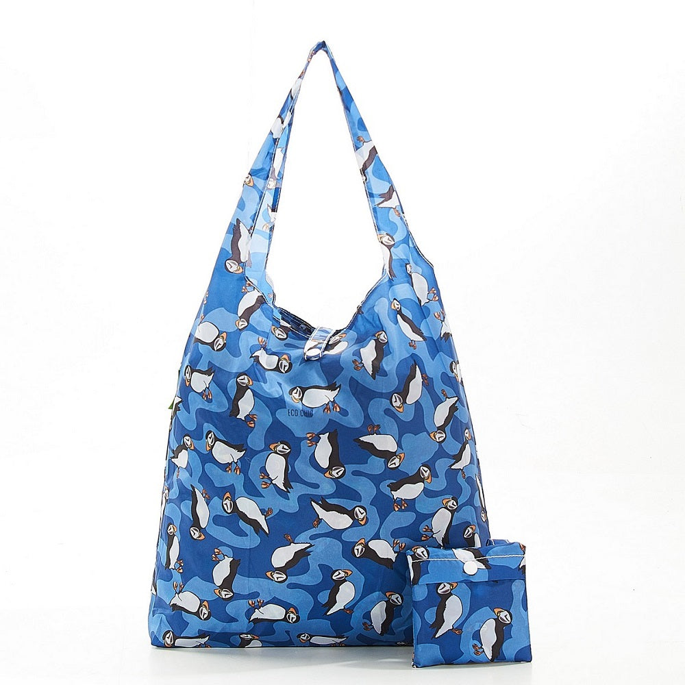 Blue Puffin Shopper