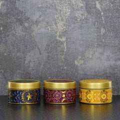 Bohemian Small Candle Tins Set