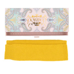 Cashmere Blend Arm Warmers in Mustard