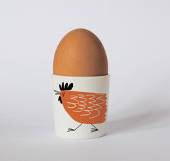Chicken Egg Cup in Orange