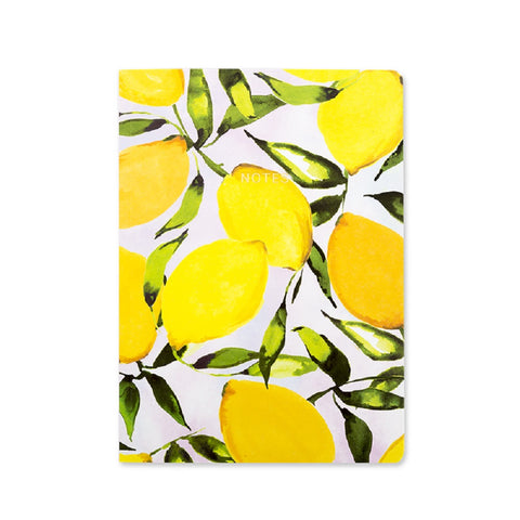 Citrus Lemons A5 Notebook