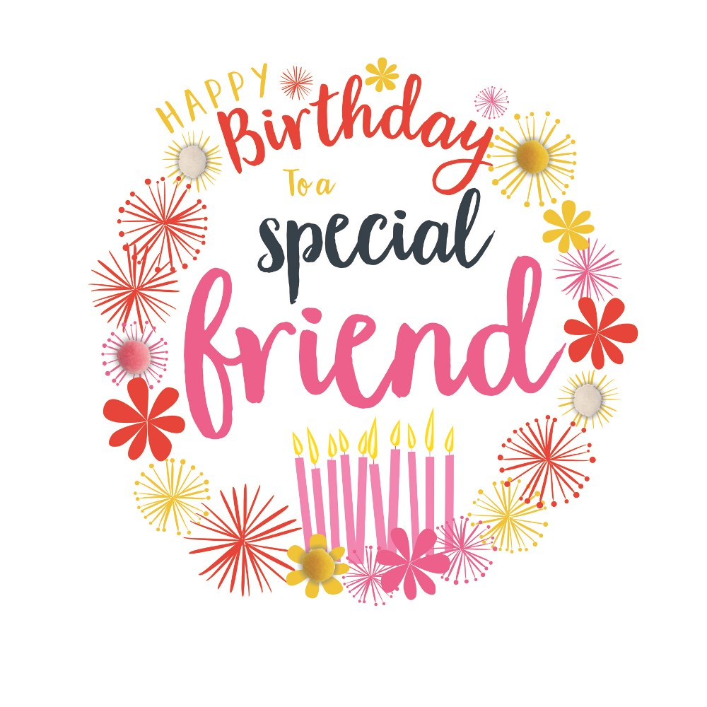 Pom Special Friend Happy Birthday Her Cards