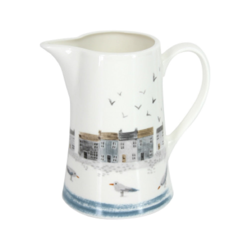 Coastal Scene Ceramic Jug