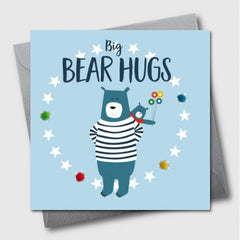 Daddy Bear PomPom Father's Day Card