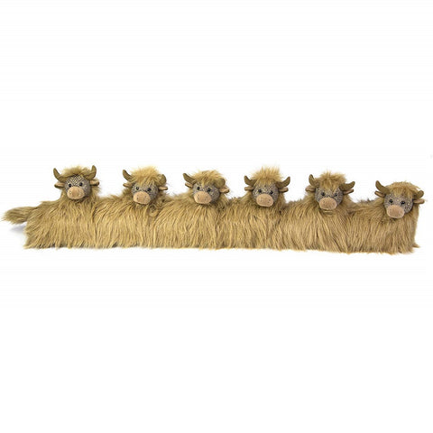 Dora Designs Highland Cows Draught Excluder