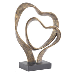 Forever Together Double Heart Sculpture
