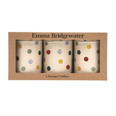 Emma Bridgewater Set of Three Polka Dot Caddies