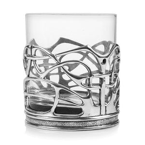 Enamelled Dot Whisky Glass