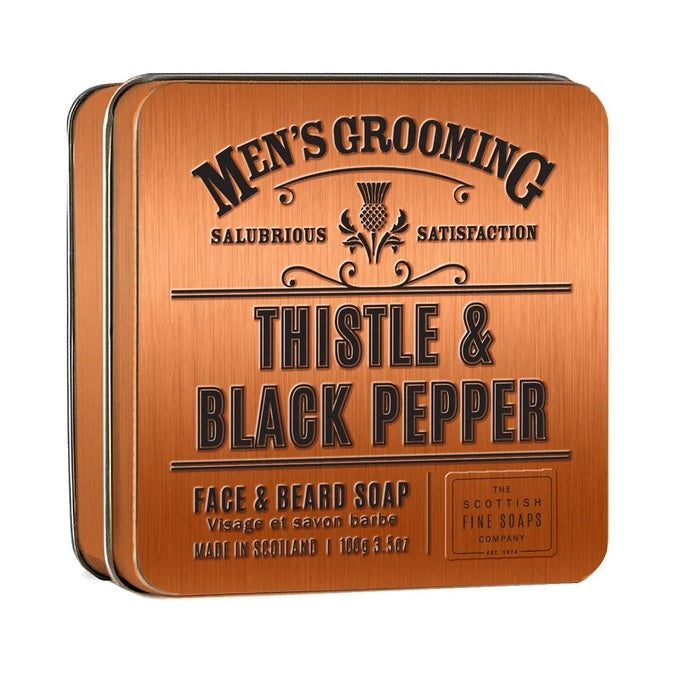 Men's Grooming Thistle and Black Pepper Face and Beard Soap