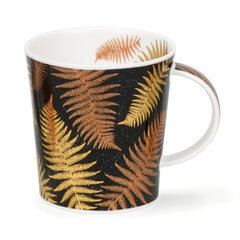 Dunoon Ceramics Lomond Mug Ferns Black