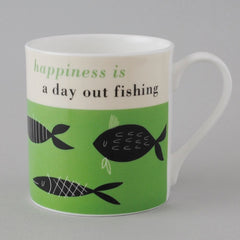 Happiness is Fishing Mug in Green