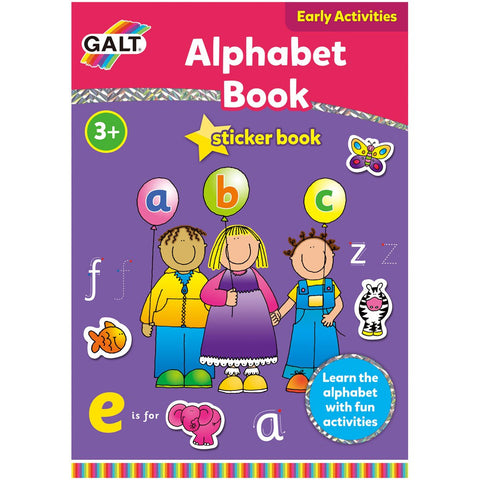 Galt Alphabet Sticker Book, Educational Books