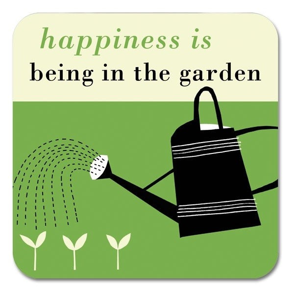 Happiness Garden Coaster in Green