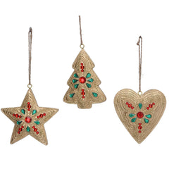 Gold, Red and Green Jewelled Decoration