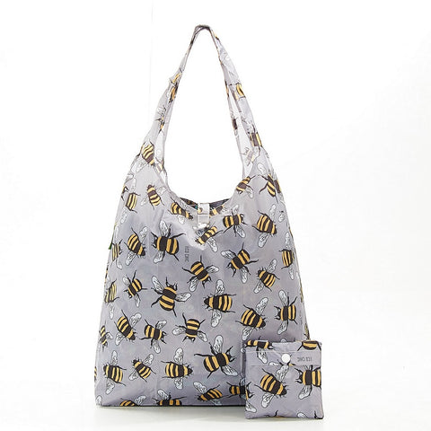 Grey Bees Shopper