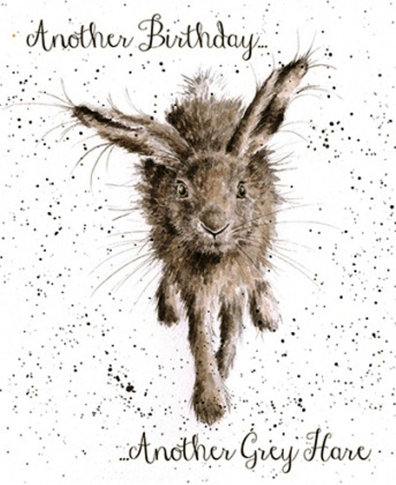 Wrendale Designs Little Grey Hare Card, His Birthday Cards