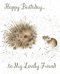 Wrendale Designs Lovely Friend Card, Her birthday Cards