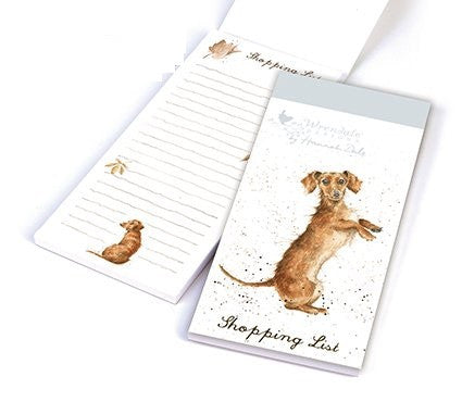 Wrendale Designs Sausage Dog Shopping Pad, Journals and stationery