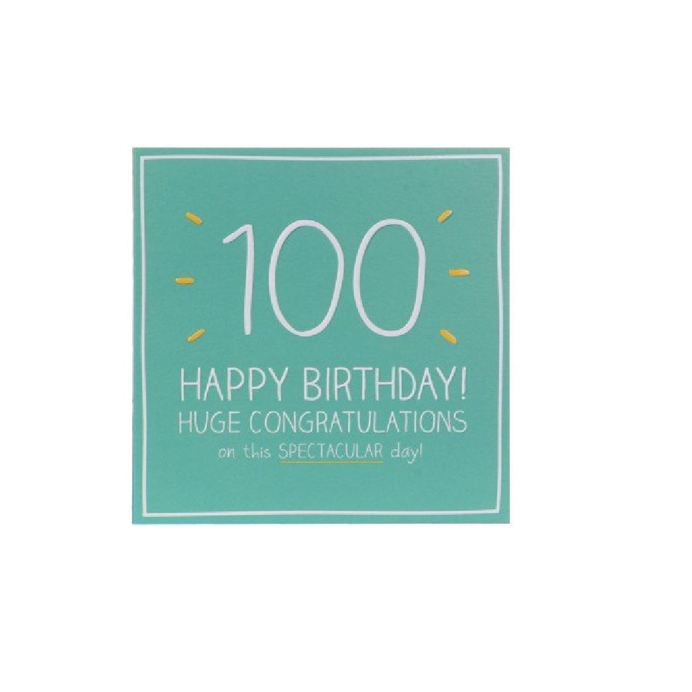 100th Birthday Card by Happy Jackson