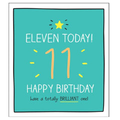 11th Birthday Card by Happy Jackson