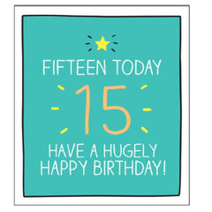 15th Birthday Card by Happy Jackson
