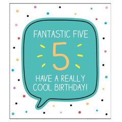5th Birthday Card by Happy Jackson