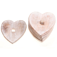 Wooden Heart Coasters, Coasters and place mats