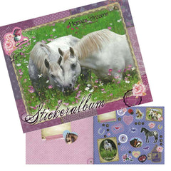 Horses Dreams Sticker Album, Activity Books for girls
