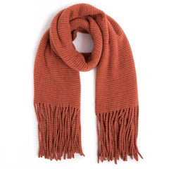 Isla Scarf in Tangerine, Hats, Scarves, Gloves & Socks