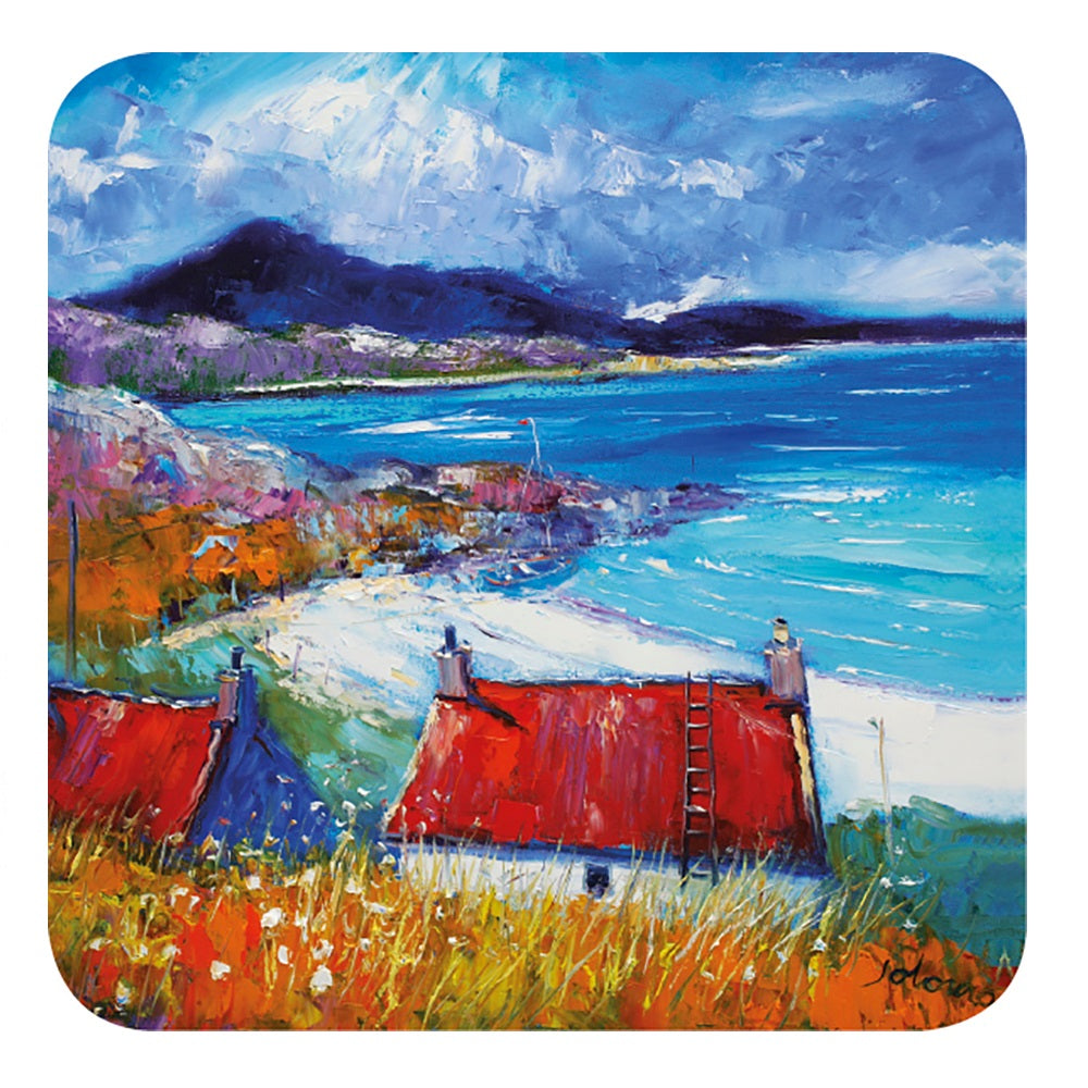 Jolomo Harris Red Roofs Coaster