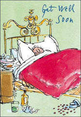 Get Well Man in Bed by Quentin Blake, Get well soon cards