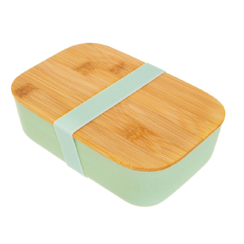 Mint Green Bamboo Lunch Box