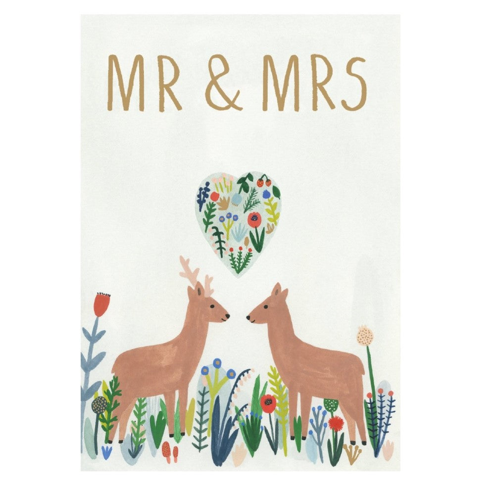 Mr and Mrs Deer Wedding Card