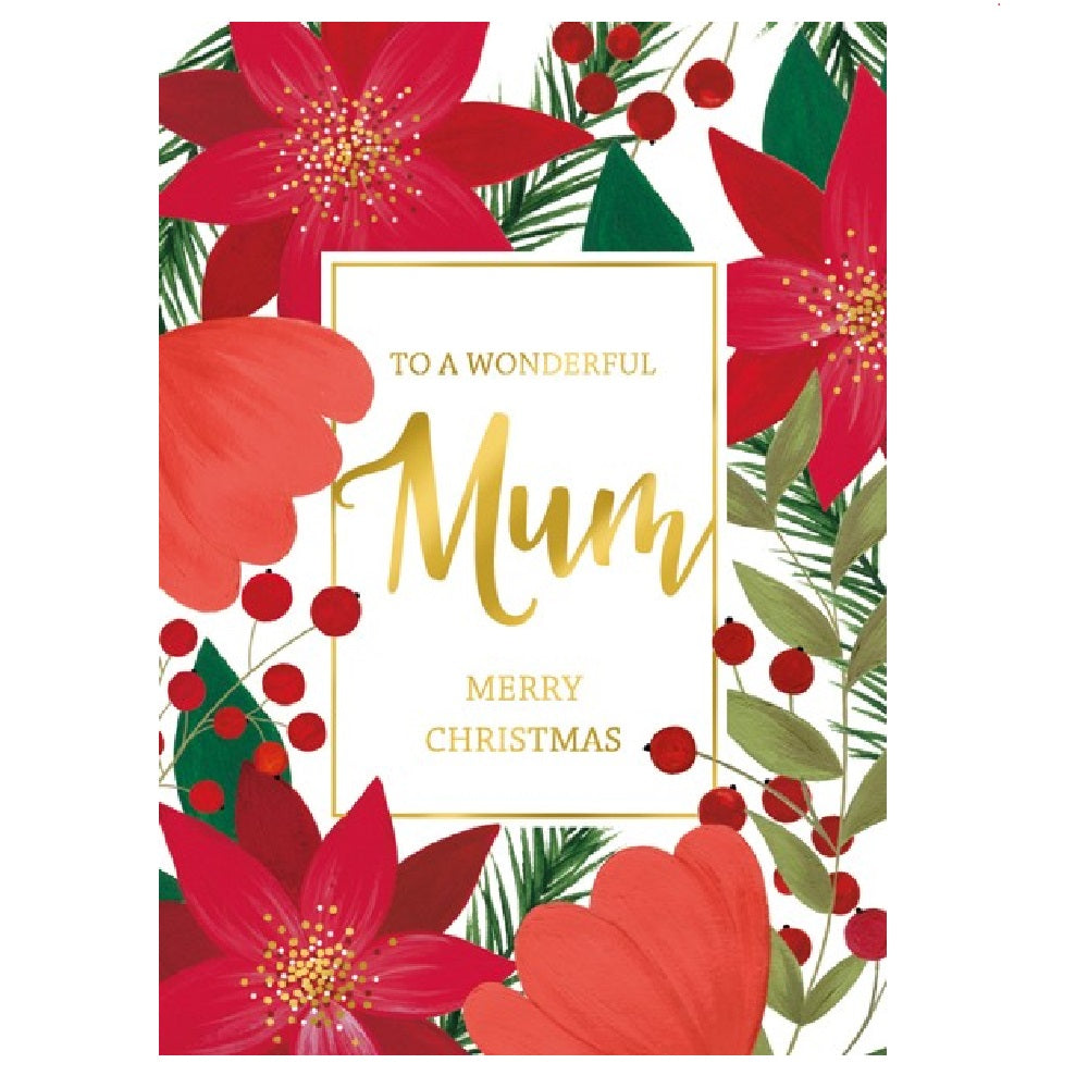 Mum Poinsettia Card