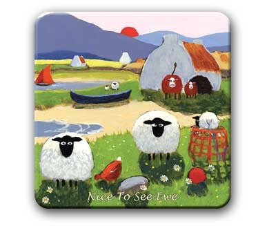 Nice To See Ewe coaster, Coasters and place mats