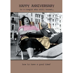 Old Couple In Deckchairs, More Anniversary Cards
