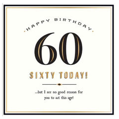 60th Birthday Card by Alice Scott
