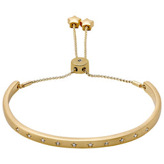 Gold Crystal Stars Bangle, Jewellery