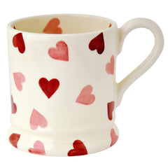 Pink Hearts Half Pint Mug, Valentines Day Gifts